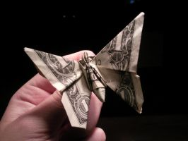One Dollar Butterfly by sasxcha