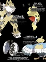 New Fakemon Designs by NachtBeirmann