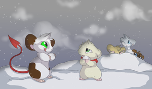 Snowball Fight by MBPanther