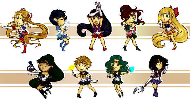 Sailor Moon Stickers by TheDutchesse