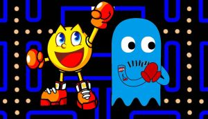 Pac Man and Inky inked up by Brandtk