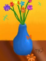 Vase and Flowers by MaxCooper67