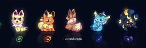 Eeveelutions long print by mmishee