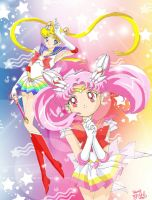 +Mother and Daugher Senshi+ by Pure-White-Angel22