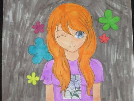 The Little Flower Girl by Mr-Pink-Rose