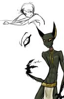 anubis doodle by Nymbus28