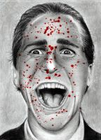 Christian Bale as Patrick Bateman by HarryMichael