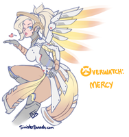 Overwatch - Mercy by SinisterBunneh