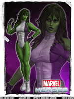 Marvel Heroes - She-Hulk by DatKofGuy