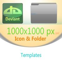 Icon and Folder Templates by evolution99
