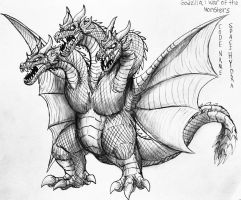 Godzilla : War Of The Monsters: King Ghidorah File by Erickzilla