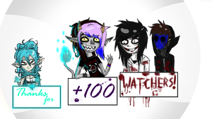 Thanks for +100 Watchers!!! by M1SS-NOTH1NG
