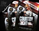 Country Night Show Flyer Template PSD by REMAKNED