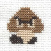 Goomba cross stitch by Lil-Samuu
