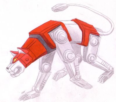 Voltron's Red Lion by Suikodeniac