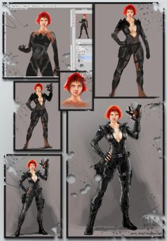 Black Widow process by IvanMina