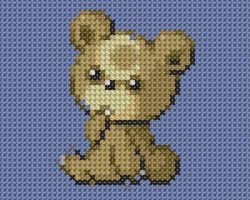Teddy Cross Stitch by drsparc