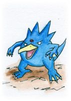 Golduck Sketch Card by melllic