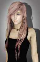 Final Fantasy XIII: Lightning with Long Hair by NovaCrystallisXIII