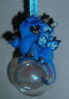 Blue Dragon Ornament by Celtic-Dragonfly