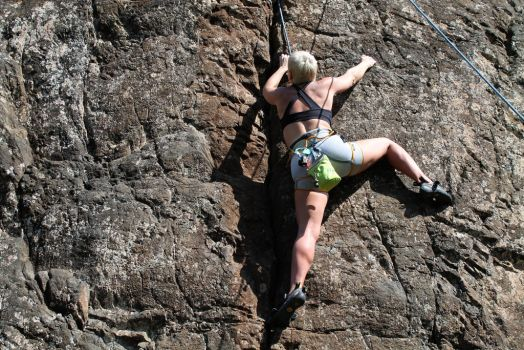 Mt Wells 5.9 top rope 2 by dalucia