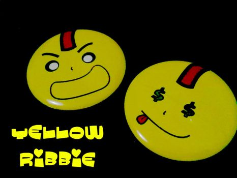 Yellow Ribbie Pin by dieary