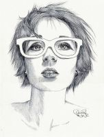 White Glasses by Cindy-R