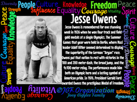 JGF Jesse Owens Poster - Black History Month by Kimberly-at-JGF