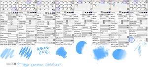 Alex's PaintToolSai Brushes by x-AL3X