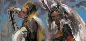 Final Fantasy 12-Balthier and Fran by nonamezai