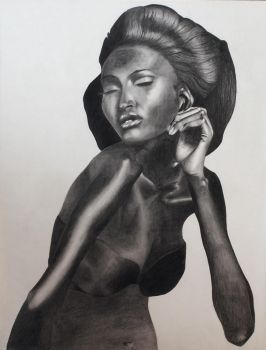 Graphite Portrait 2 by CherryTokyo