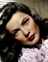 Gene Tierney Close up by M3ment0M0ri