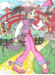 Chinese Blossom Fan Warrior by pixarviolet