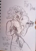 Gaga sketch for Dawn by Yamino