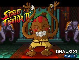 Street Fighter - Dhalsim by happymonkeyshoes