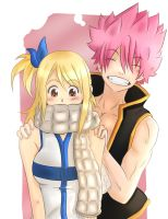 Natsu and Lucy - Fairy tail by KekoArt97