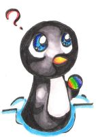 Chibi penguin and rainbow ice by jemeste