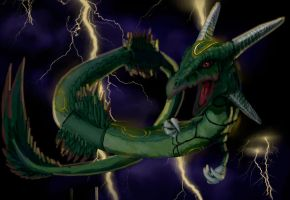 Rayquaza by Antuniey