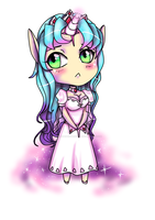 Chibi unicorn by stephainestarfire