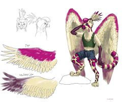 Griffin for Izzy: humanoid by NetRaptor