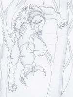 Logan The Werewolf Leaping by NINJAWERETIGER