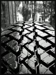 Land Rover Wet Tyre Tread by Bonesy