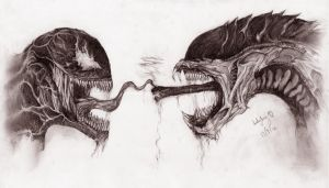 Venom vs Alien by Yaoi-Hirako