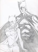 Batman and Batgirl by grover80