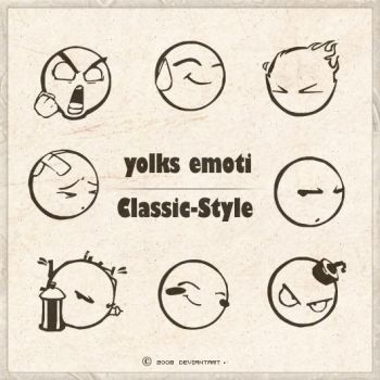 YOLKS EMOTI BRUSHES by Classic-Style