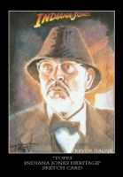 Sketch Card-Indiana Jones 26 by TrevorGrove