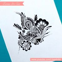 Random Abstract Henna Mehndi Design by LinesInAir