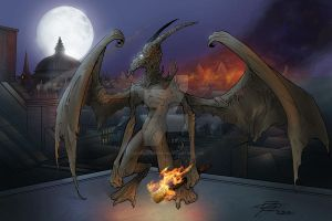 Gargoyle by ravenofsorrows