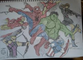 Avengers sketch 27.2.13-6.3.13 - colored by itamar050