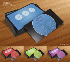 Free Business Card Template - Cirque by CursiveQ-Designs